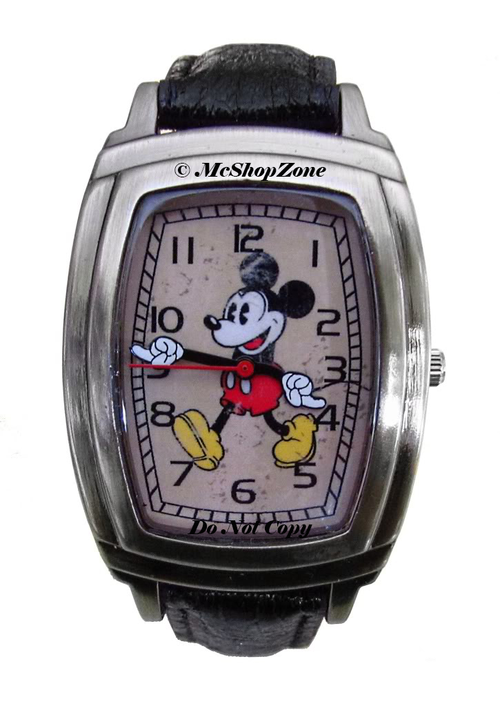 Mickey Mouse Watch Value >> New Vintage Look Disney Men S Mickey Mouse Watch